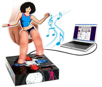ddrmatfingers - Dance Dance Revoluton mat for your fingers